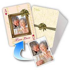 丝带主题 个性照片扑克牌定制