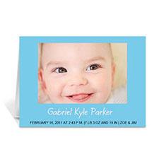 浅蓝色宝宝纪念卡 个性贺卡