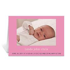 淡粉色宝宝纪念卡 个性贺卡