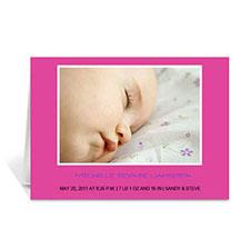 粉红色宝宝纪念卡 个性贺卡