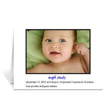 经典白色宝宝纪念卡 个性贺卡