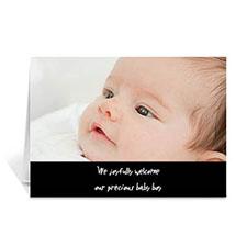 经典黑色简约款宝宝纪念卡 个性贺卡