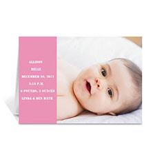 淡粉色时尚款宝宝纪念卡 个性贺卡