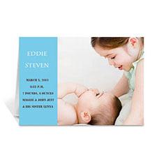 淡蓝色时尚款宝宝纪念卡 个性贺卡