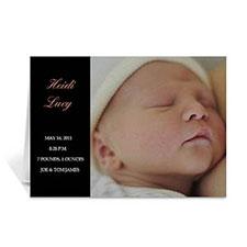 经典白色时尚款宝宝纪念卡 个性贺卡