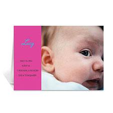 粉红色时尚款宝宝纪念卡 个性贺卡