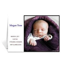 白色时尚款宝宝纪念卡 个性贺卡