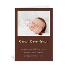 棕褐色宝宝纪念卡 个性贺卡