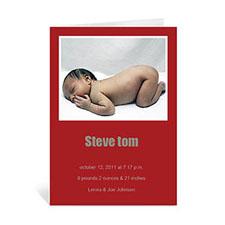 经典红色宝宝纪念卡 个性贺卡