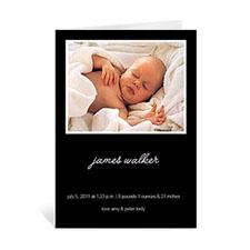 经典黑色宝宝纪念卡 个性贺卡