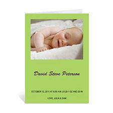 浅绿色宝宝纪念卡 个性贺卡