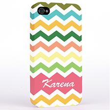 Personalized Colorful Chevron Hard Case Cover