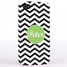 Personalized Black Chevron iPhone 4 Hard Case Cover