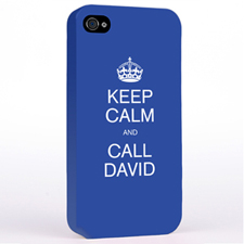 Personalized Blue Keep Calm Hard Case Cover