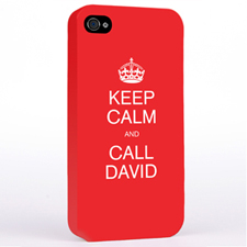 Personalized Red Keep Calm Hard Case Cover