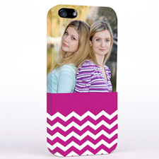 Hot Pink Chevron Photo iPhone 5