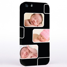 Personalized Black 3 Collage iPhone 5 Case