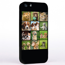 Personalized 12 Black Collage iPhone Case