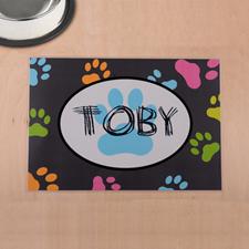 定制宠物爪印设计餐垫