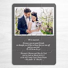 灰色 婚礼主题 5×7英寸小号照片拼图