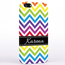 Personalized Colorful Chevron iPhone Case