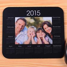 经典款 照片带日历鼠标垫 黑色 2015