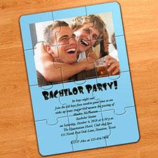 淡蓝色 婚礼主题 5×7英寸小号照片拼图
