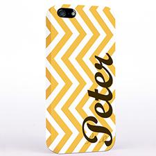 黄色线条 哑光表面定制 iPhone手机壳
