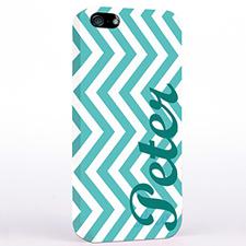 Personalized Aqua Chevron iPhone Case