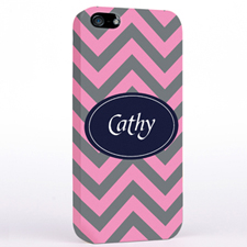 Personalized Grey & Carol Chevron iPhone Case