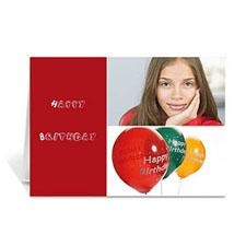 红色雅致款拼盘生日卡 个性贺卡