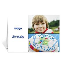 白色雅致款拼盘生日卡 个性贺卡