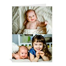 经典两图拼盘宝宝纪念卡 个性贺卡