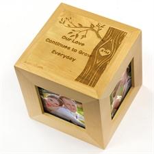 定制雕刻浪漫木制照片立方体
