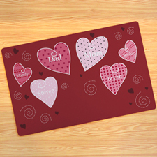 Create Your Own Hearts Door Mat
