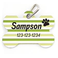 个性化绿色宠物牌 线条 掌