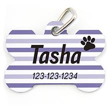 个性化紫色宠物牌 线条 掌