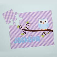 定制紫色卡通图案儿童拼图