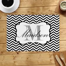 定制带黑色线条设计餐垫