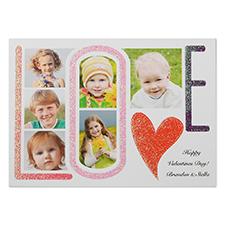 定制个性化情人节照片卡
