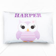 个性化紫色猫头鹰设计枕头