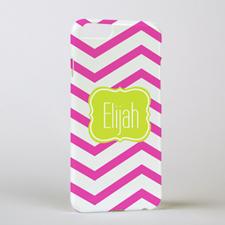 Fuchsia Chevron Personalized iPhone 6 Case