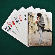 白色蕾丝 结婚纪念扑克牌 背面定制