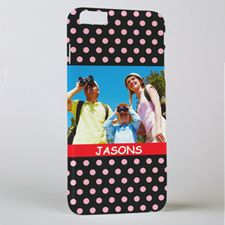 Polka Dots Personalized Photo iPhone 6+ Mobile Case
