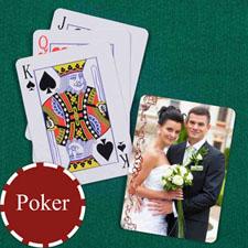 复古银色 结婚纪念扑克牌 背面定制