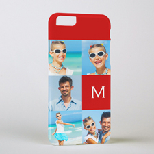 Red Five Collage Initial Personalized Photo iPhone 6 Case