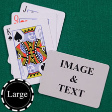 标准字号 背面定制 大号个性扑克牌(横式)