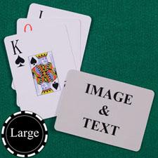 超大字号 背面定制 大号个性扑克牌(横式)