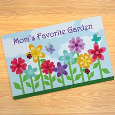 Garden Of Mom Personalized Doormat
