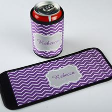定制紫色线条饮料罐套